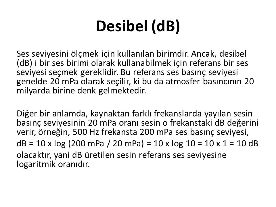 Desibel (dB)