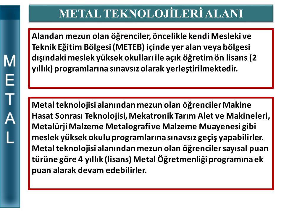 METAL TEKNOLOJİLERİ ALANI