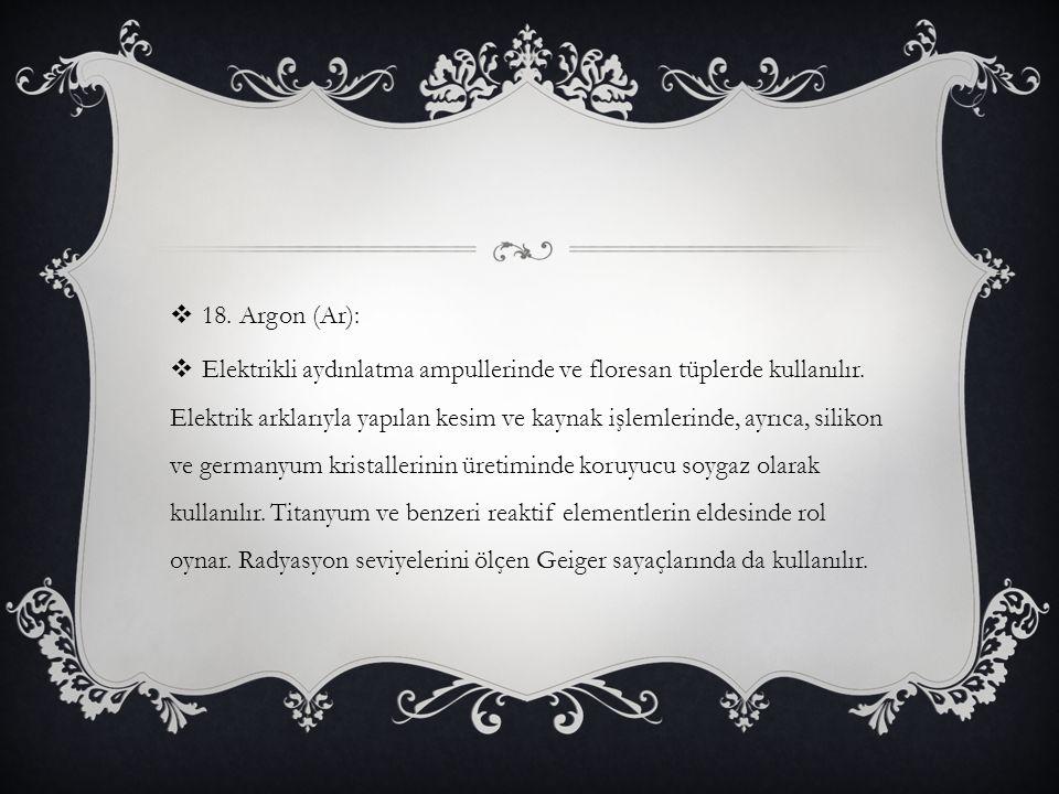 18. Argon (Ar):