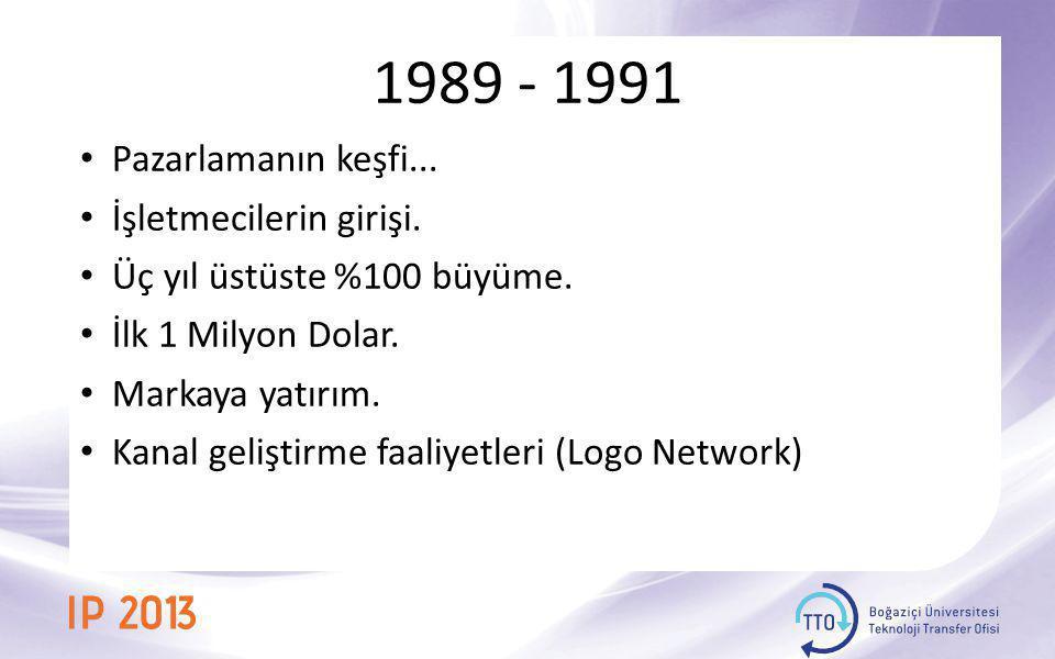 1989 - 1991 Pazarlamanın keşfi... İşletmecilerin girişi.