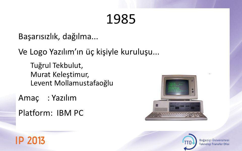 1985 Başarısızlık, dağılma... Ve Logo Yazılım'ın üç kişiyle kuruluşu... Tuğrul Tekbulut, Murat Keleştimur,