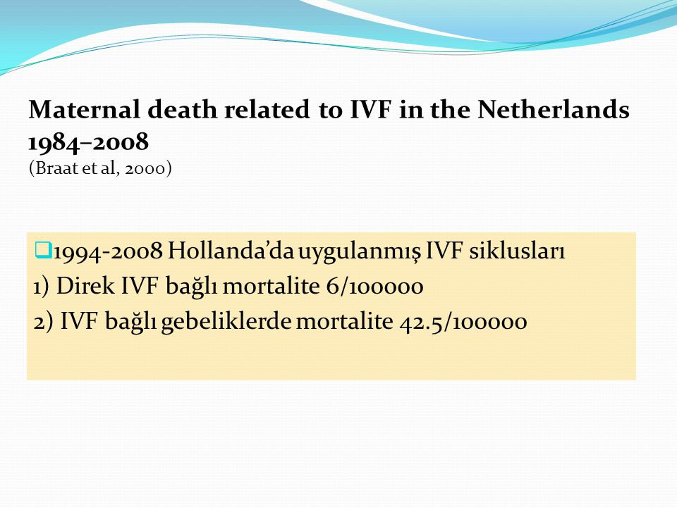 Maternal death related to IVF in the Netherlands 1984–2008