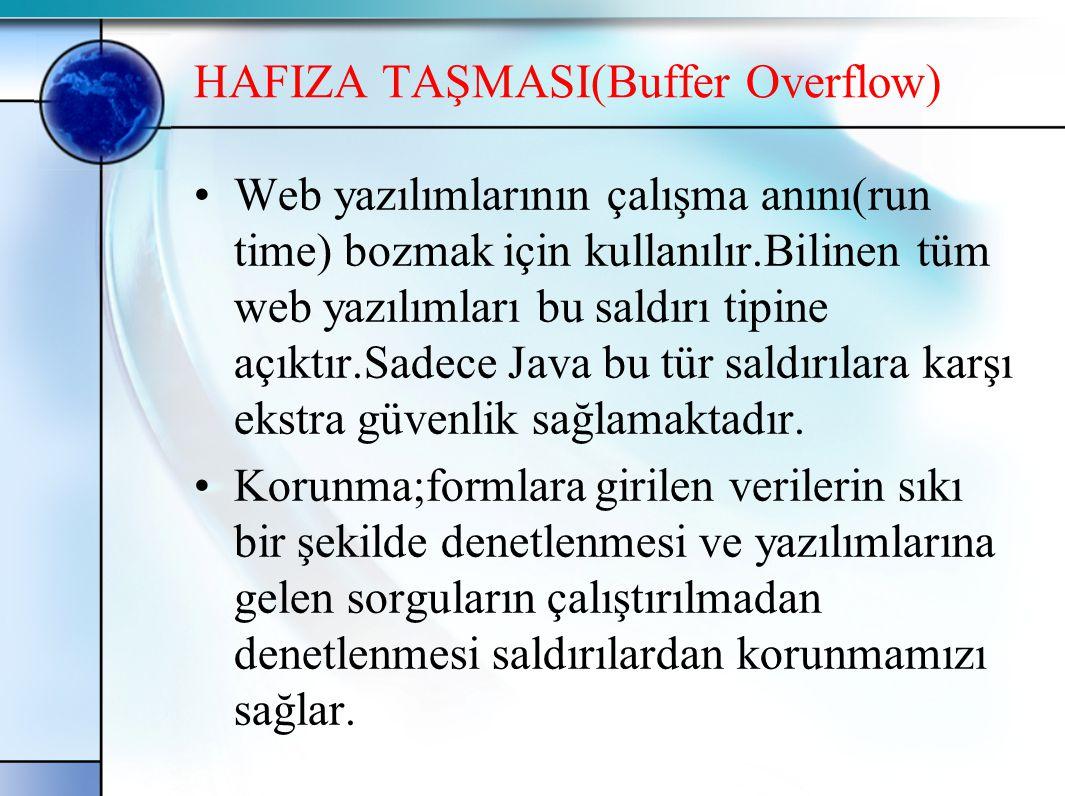 HAFIZA TAŞMASI(Buffer Overflow)