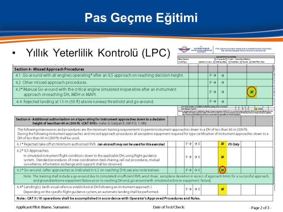Pas Geçme Eğitimi Yıllık Yeterlilik Kontrolü (LPC)