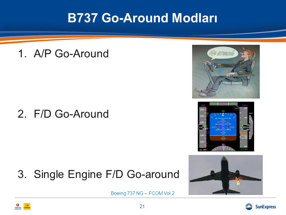 B737 Go-Around Modları A/P Go-Around F/D Go-Around