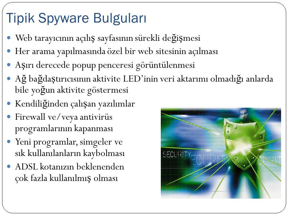 Tipik Spyware Bulguları