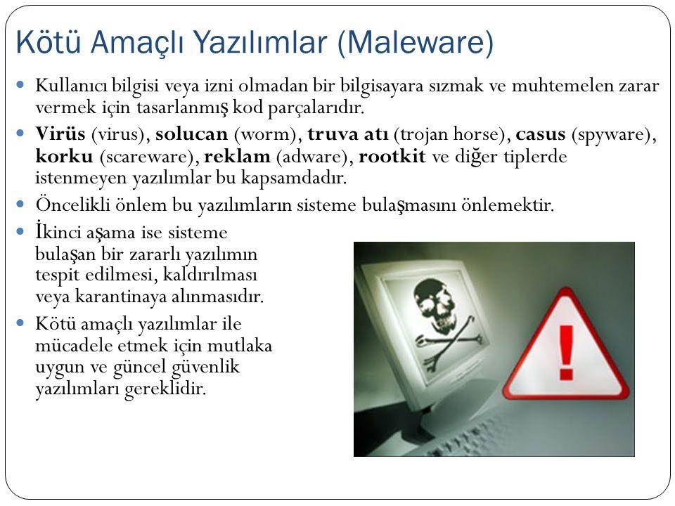 Kötü Amaçlı Yazılımlar (Maleware)