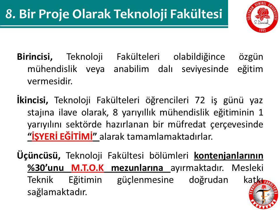 8. Bir Proje Olarak Teknoloji Fakültesi