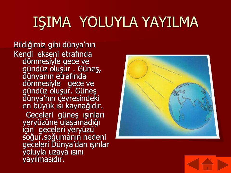 IŞIMA YOLUYLA YAYILMA