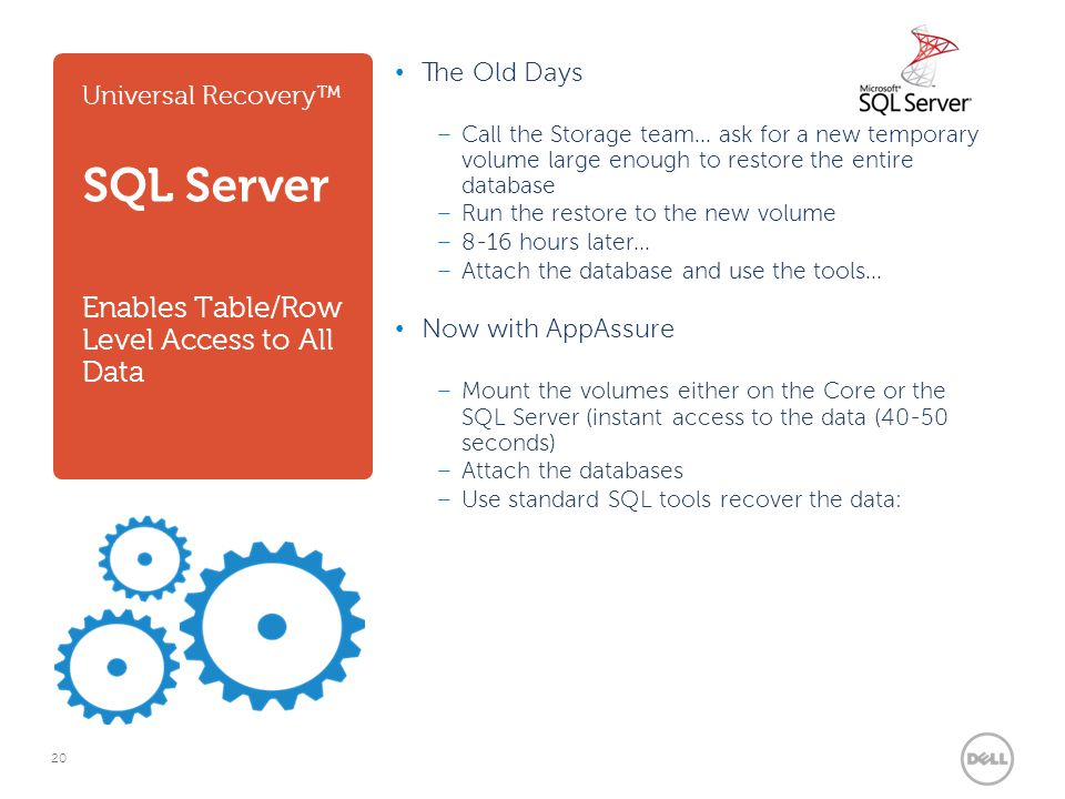 Universal Recovery™ SQL Server Enables Table/Row Level Access to All Data