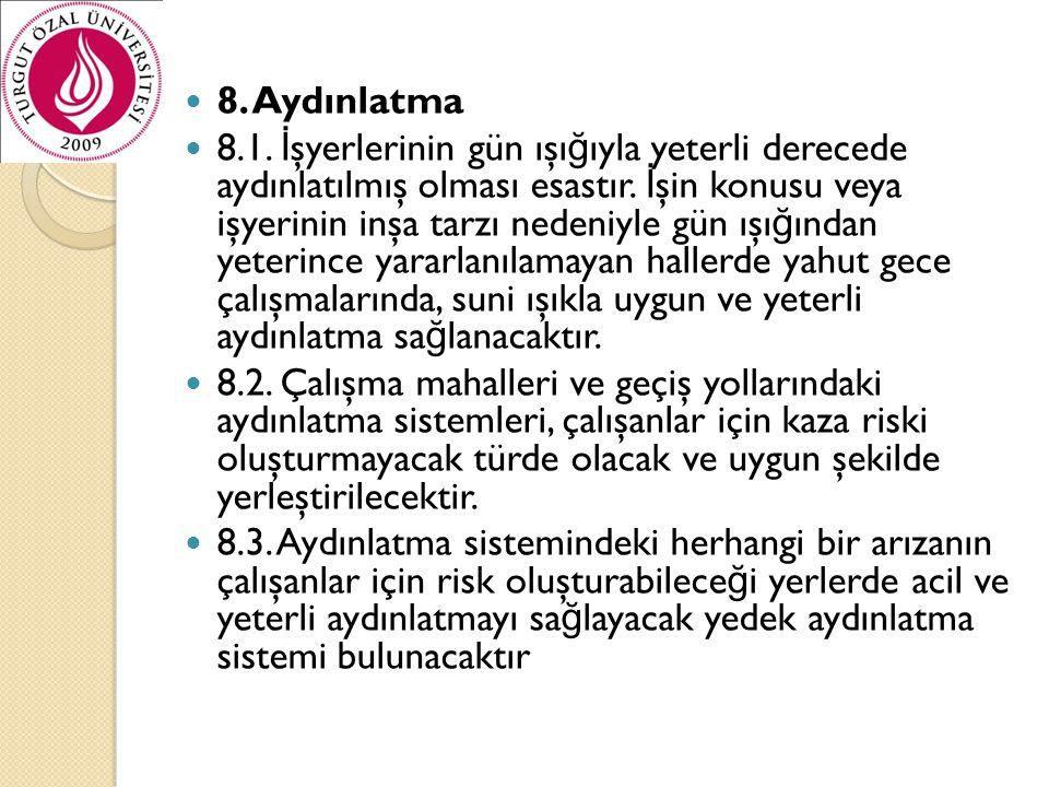 8. Aydınlatma