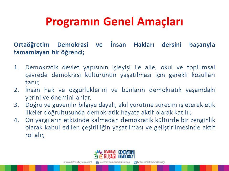 Programın Genel Amaçları