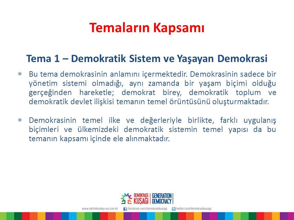 Tema 1 – Demokratik Sistem ve Yaşayan Demokrasi