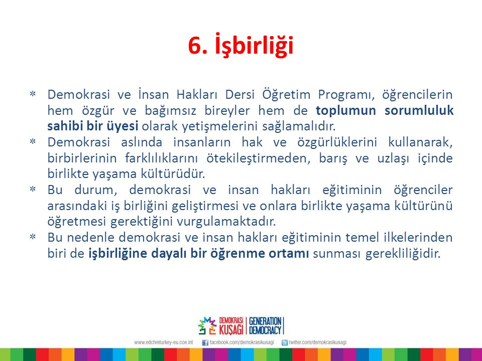 6. İşbirliği