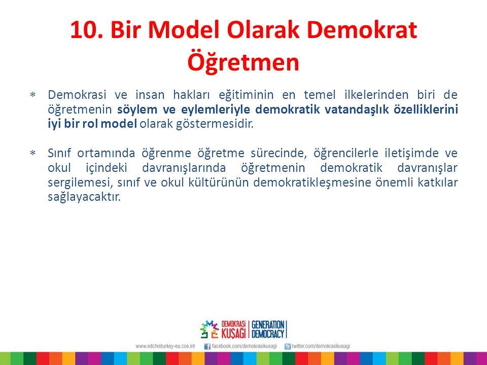 10. Bir Model Olarak Demokrat Öğretmen