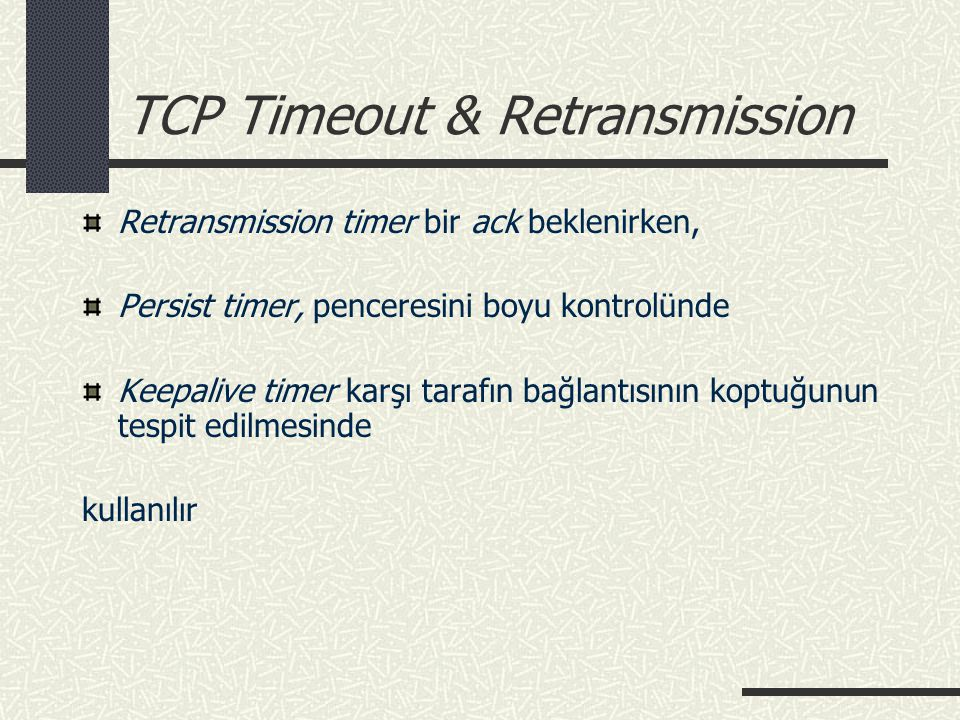 TCP Timeout & Retransmission