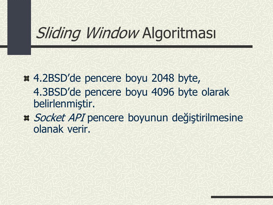 Sliding Window Algoritması