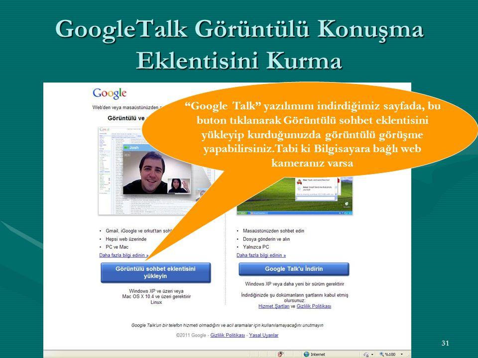 GoogleTalk Görüntülü Konuşma Eklentisini Kurma