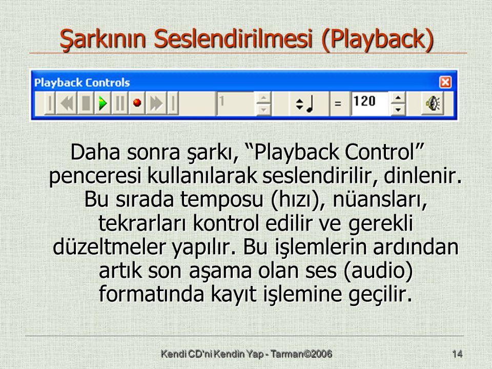 Şarkının Seslendirilmesi (Playback)