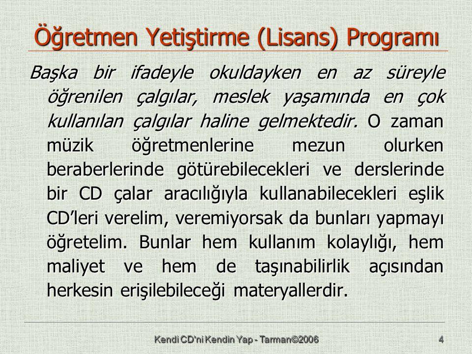 Öğretmen Yetiştirme (Lisans) Programı