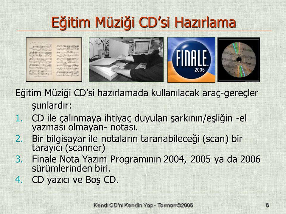 Eğitim Müziği CD'si Hazırlama