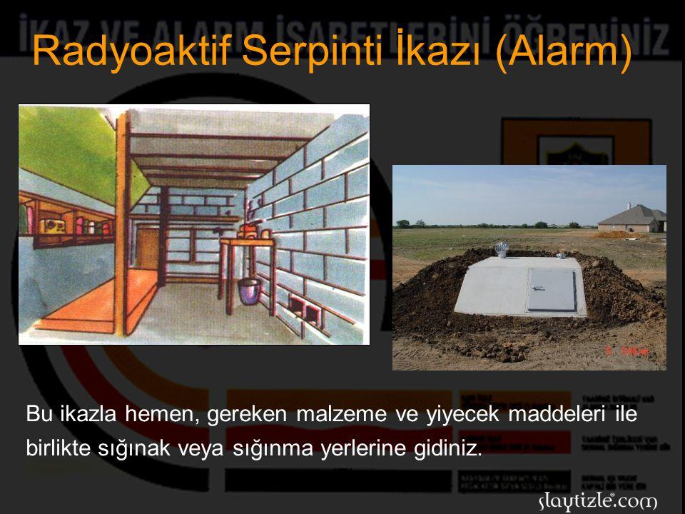 Radyoaktif Serpinti İkazı (Alarm)