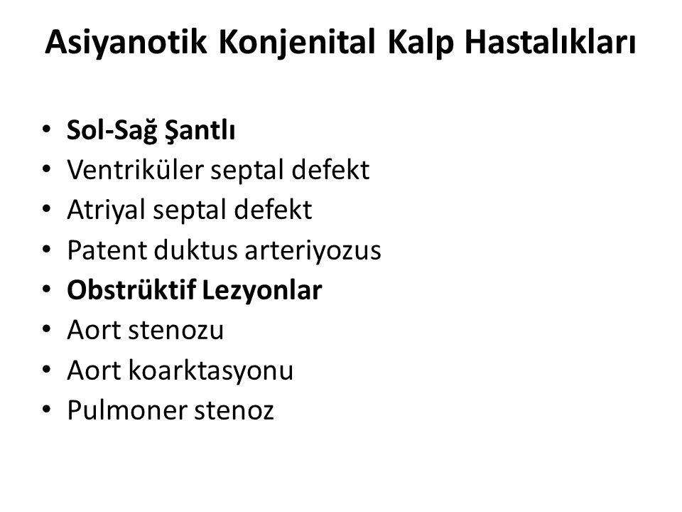 Asiyanotik Konjenital Kalp Hastalıkları