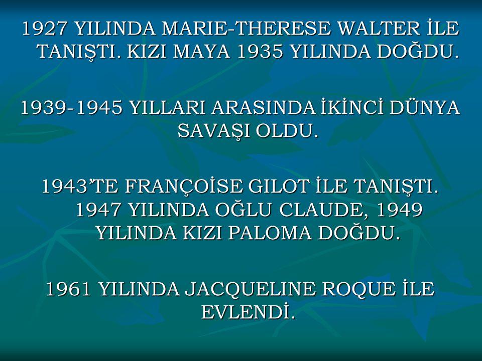 1939-1945 YILLARI ARASINDA İKİNCİ DÜNYA SAVAŞI OLDU.
