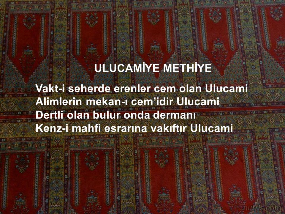ULUCAMİYE METHİYE