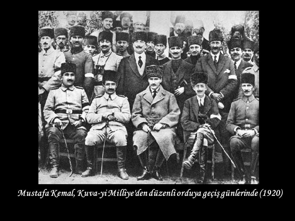 Mustafa Kemal, Kuva-yi Milliye den düzenli orduya geçiş günlerinde (1920)