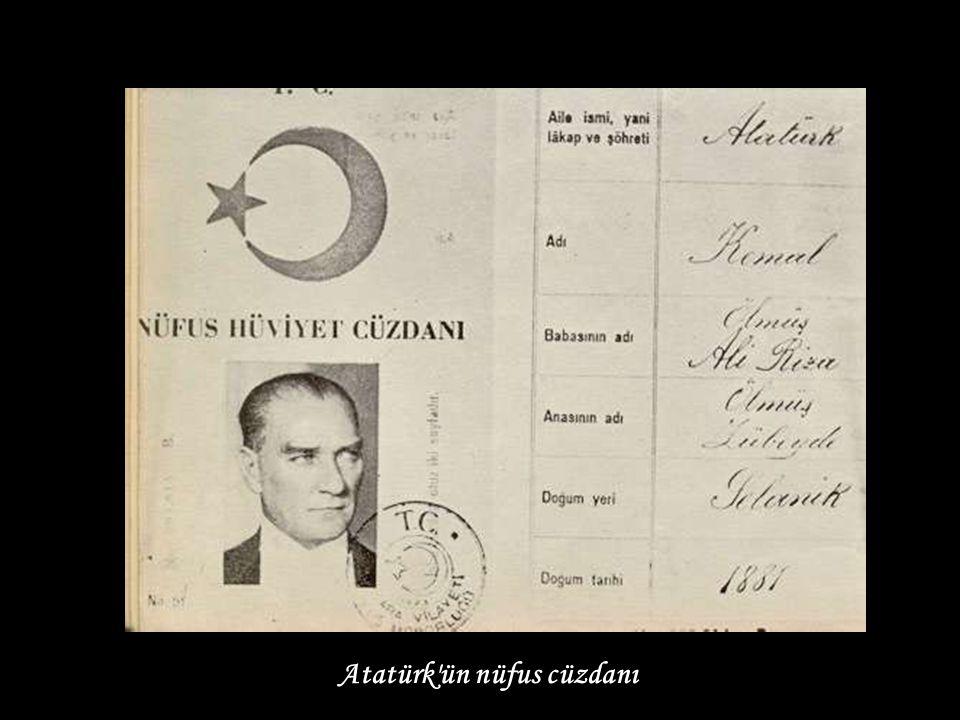 Atatürk ün nüfus cüzdanı