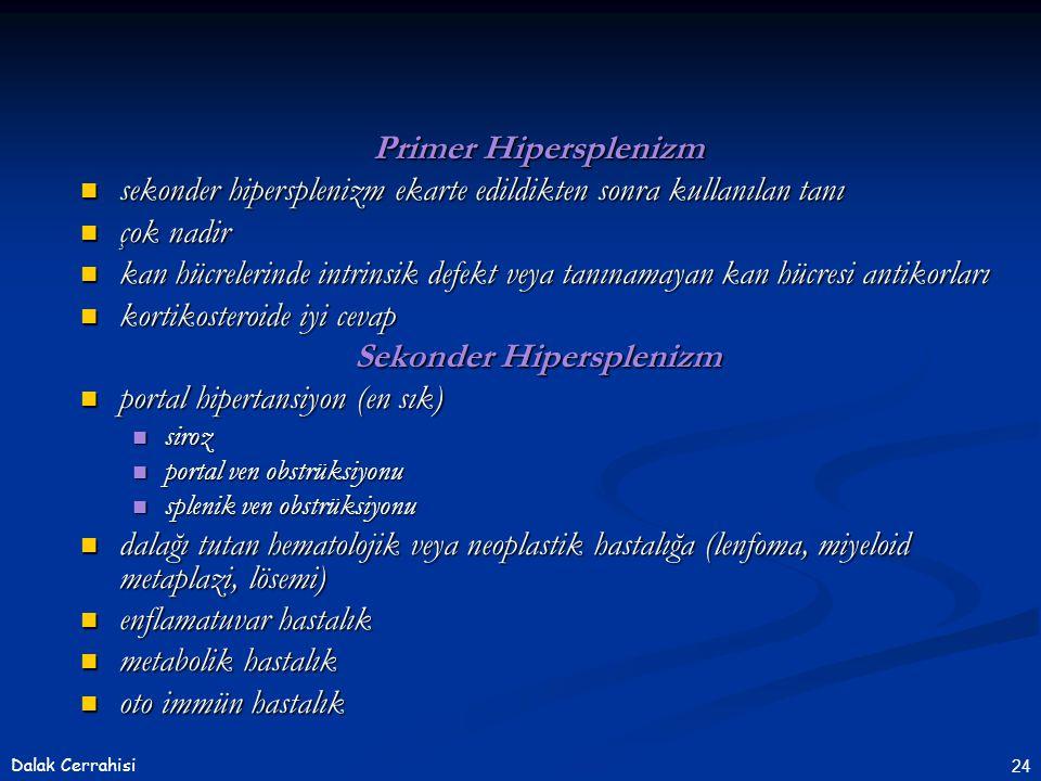Sekonder Hipersplenizm