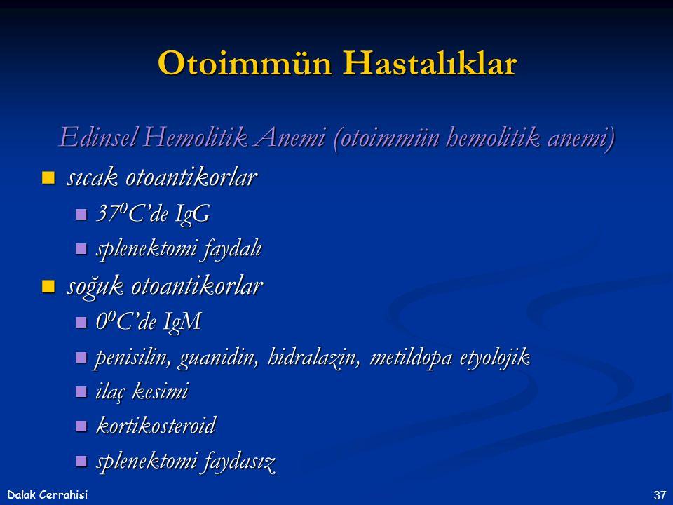 Edinsel Hemolitik Anemi (otoimmün hemolitik anemi)