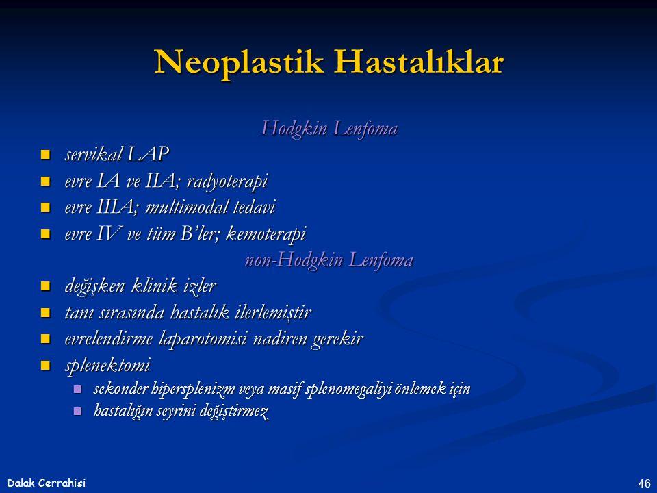 Neoplastik Hastalıklar