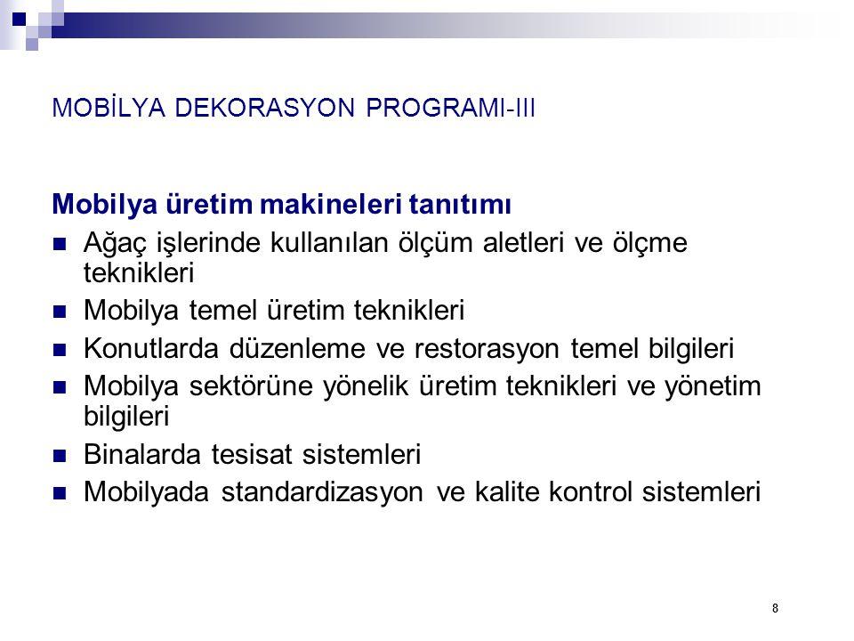 MOBİLYA DEKORASYON PROGRAMI-III