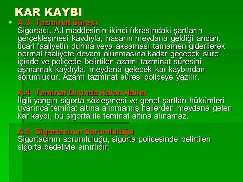 KAR KAYBI