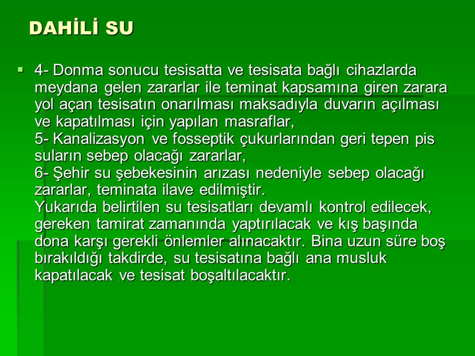 DAHİLİ SU