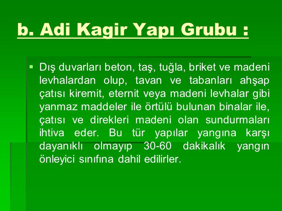 b. Adi Kagir Yapı Grubu :
