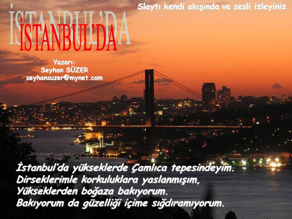 İSTANBUL'DA İstanbul'da yükseklerde Çamlıca tepesindeyim.