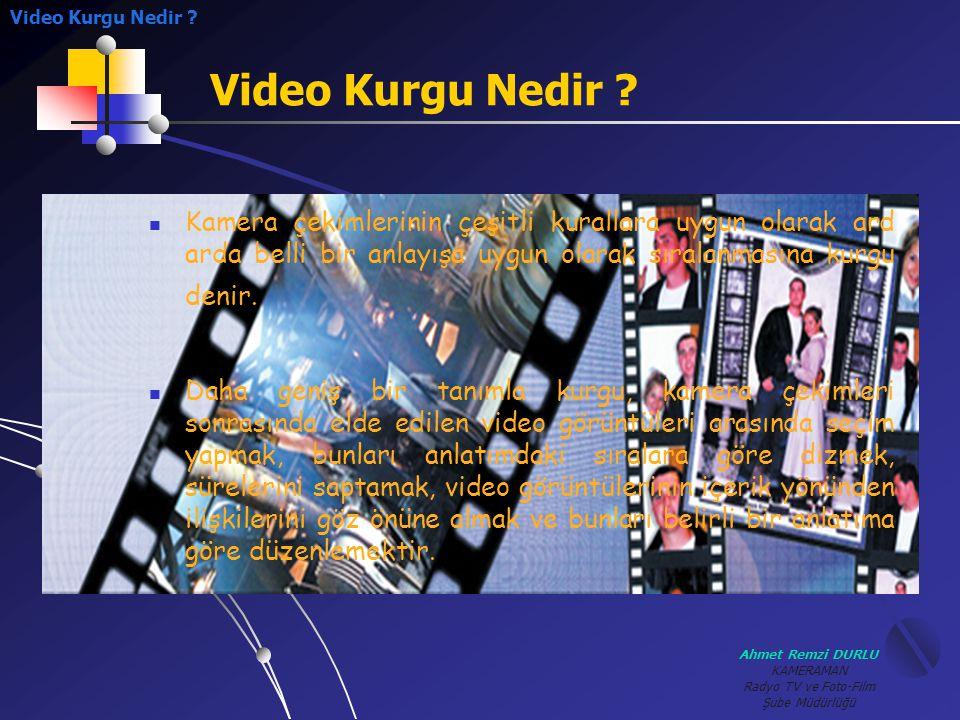 Video Kurgu Nedir Video Kurgu Nedir