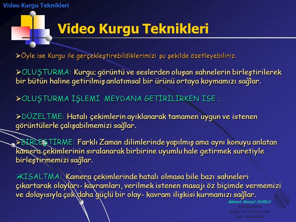 Video Kurgu Teknikleri