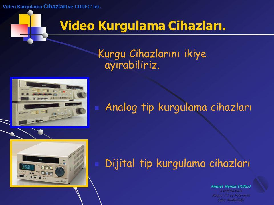 Video Kurgulama Cihazları.