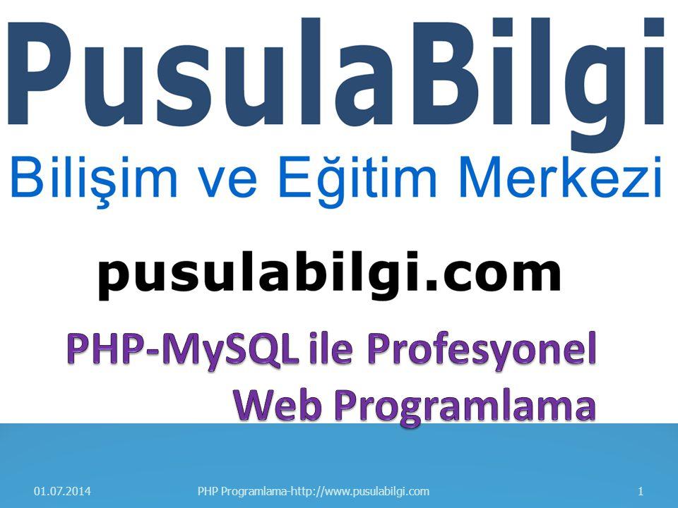 PHP-MySQL ile Profesyonel Web Programlama