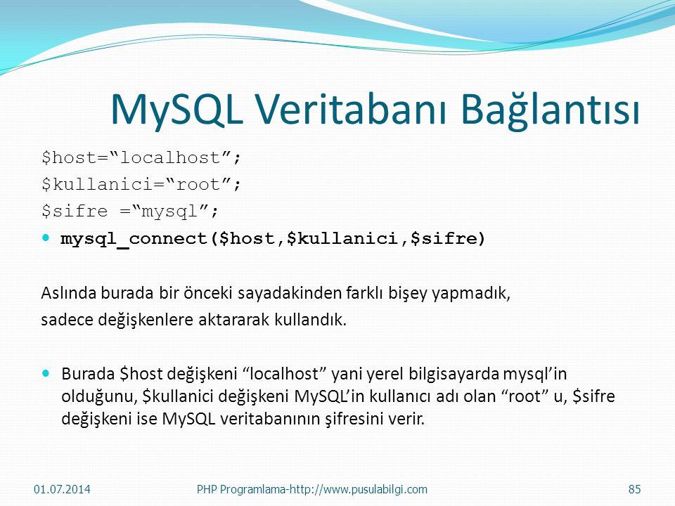 MySQL Veritabanı Bağlantısı
