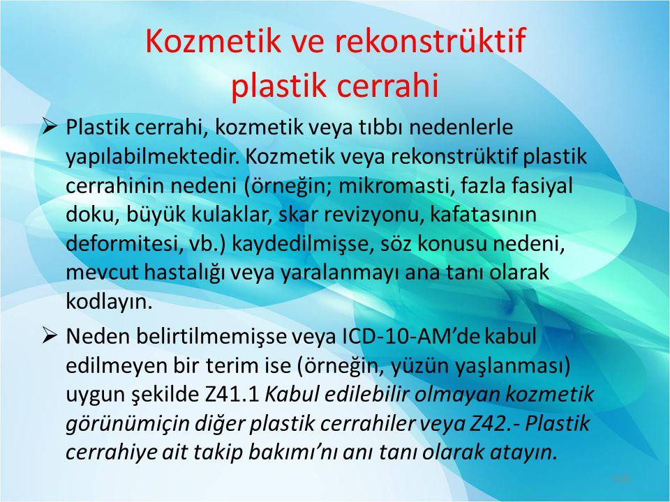 Kozmetik ve rekonstrüktif plastik cerrahi