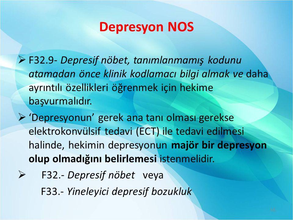 Depresyon NOS