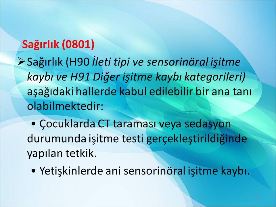 Sağırlık (0801)