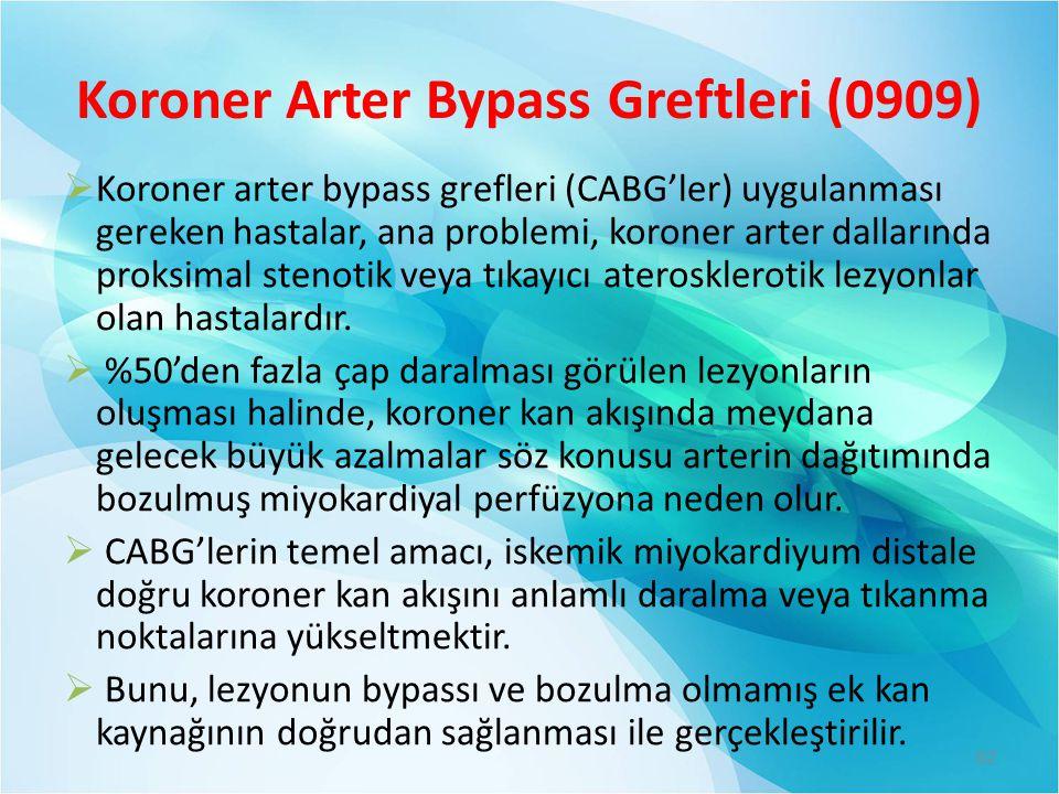 Koroner Arter Bypass Greftleri (0909)
