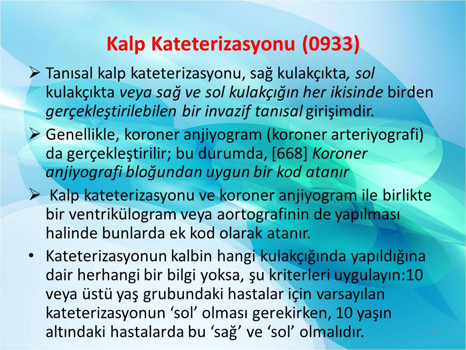 Kalp Kateterizasyonu (0933)