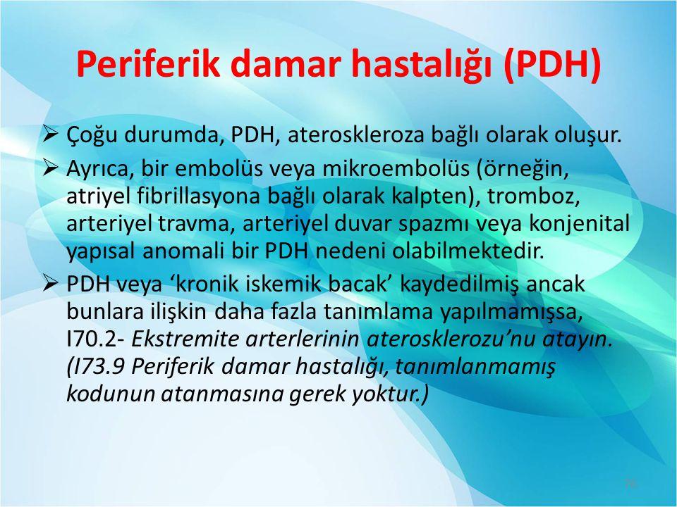 Periferik damar hastalığı (PDH)